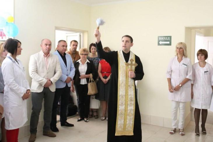 Під час освячення нової амбулаторії сімейної медицини на вул.Куліша, 7а.