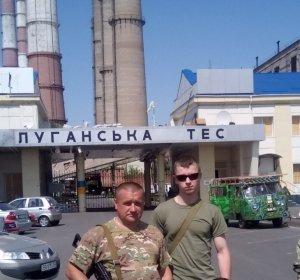 Вадим (праворуч) з побратимом в зоні АТО.